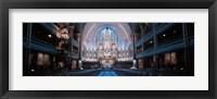 Framed Notre-Dame Basilica Montreal Quebec Canada
