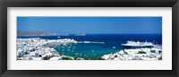 Framed Mykonos Island Greece