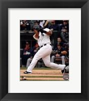 Framed Jose Abreu Baseball Hit