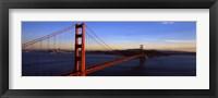 Framed Golden Gate Bridge with Blue Sky, San Francisco, California, USA