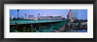 Framed Bridge across river, Gay Street Bridge, Tennessee River, Knoxville, Knox County, Tennessee, USA