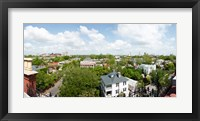 Framed High angle view of buildings in a city, Wentworth Street, Charleston, South Carolina, USA