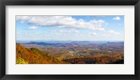 Framed Clouds over a landscape, North Carolina, USA