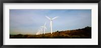 Framed Wind turbines in motion, Provence-Alpes-Cote d'Azur, France