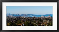 Framed Buildings in a city, Oakland, San Francisco Bay, California