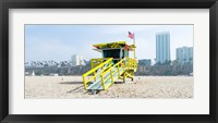 Framed Lifeguard Station on the beach, Santa Monica Beach, Santa Monica, California, USA