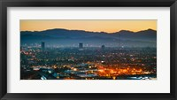 Framed Buildings in a city, Miracle Mile, Hollywood, Griffith Park Observatory, Los Angeles, California, USA