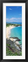 Framed High angle view of a beach, Makapuu, Oahu, Hawaii, USA