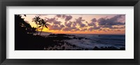 Framed Sunset North Shore, Oahu, Hawaii
