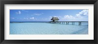 Framed Jetty and Dive Shack at Tikehau Village, Tuamotu Archipelago, French Polynesia