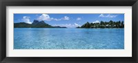 Framed Motu and lagoon, Bora Bora, Society Islands, French Polynesia