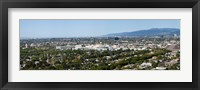 Framed High angle view of a city, Culver City, West Los Angeles, Santa Monica Mountains, Los Angeles County, California, USA
