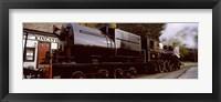 Framed Kingston Flyer vintage steam train, Kingston, Otago Region, South Island, New Zealand