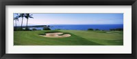 Framed Manele Golf course, Lanai City, Hawaii, USA