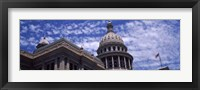 Framed Low angle view of the Texas State Capitol Building, Austin, Texas, USA