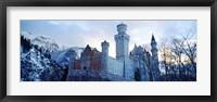 Framed Neuschwanstein Castle in winter, Bavaria, Germany