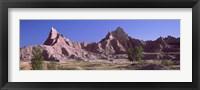 Framed Mountains at Badlands National Park, South Dakota, USA