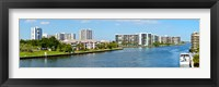 Framed Buildings on Intracoastal Waterway, Hollywood Beach, Hollywood, Florida