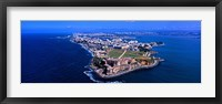 Framed Aerial view of the Morro Castle, San Juan, Puerto Rico