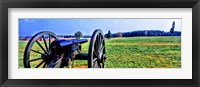 Framed Cannon at Manassas National Battlefield Park, Manassas, Prince William County, Virginia, USA