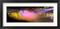 Framed Niagara Falls at night, Niagara River, Niagara County, New York State