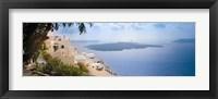 Framed Dwellings along cliff, Santorini, Greece