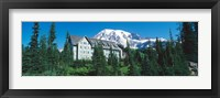 Framed Lodge on a hill, Paradise Lodge, Mt Rainier National Park, Washington State, USA