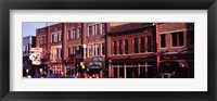 Framed Buildings along a street, Nashville, Tennessee, USA