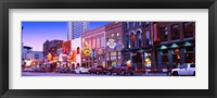 Framed Street scene at dusk, Nashville, Tennessee, USA