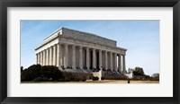Framed Facade of the Lincoln Memorial, The Mall, Washington DC, USA