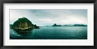 Framed Small island in the ocean, Niteroi, Rio de Janeiro, Brazil