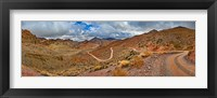 Framed Road passing through landscape, Titus Canyon Road, Death Valley, Death Valley National Park, California, USA