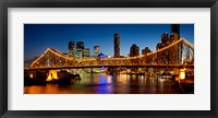 Framed Bridge across a river, Story Bridge, Brisbane River, Brisbane, Queensland, Australia