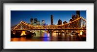 Framed Bridge across a river, Story Bridge, Brisbane River, Brisbane, Queensland, Australia
