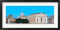 Framed St. Peter's Basilica in Vatican City, Ponte Sant Angelo, Rome, Lazio, Italy
