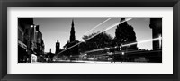 Framed Traffic on the street, Princes Street, Edinburgh, Scotland