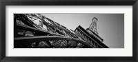 Framed Las Vegas Replica Eiffel Tower, Las Vegas, Nevada (black & white)