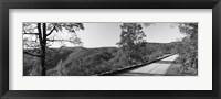Framed Blue Ridge Parkway, North Carolina, USA