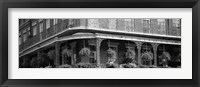 Framed Black and white view of Jackson Square, French Quarter, New Orleans, Louisiana