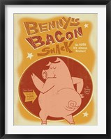 Framed Benny's Bacon Shack