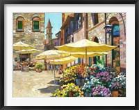 Framed Siena Flower Market