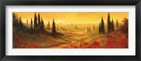 Framed Toscano Panel II