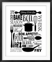 Culinary Love 1 Framed Print