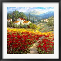 Framed Fleur du Pays I