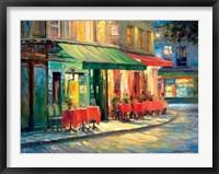 Framed Red & Green Cafe