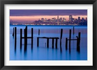 Framed Bay Pilings - Sausalito