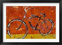 Framed Gold and Orange Bike