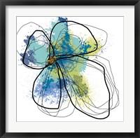 Framed Azure Petals I