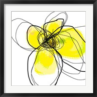 Yellow Petals Three Framed Print