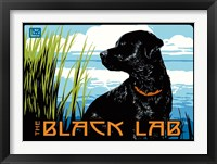 Framed Black Lab